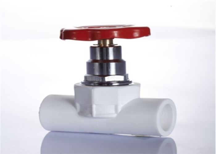 PPR Concealed Stop Valve , Multi Color Plastic Stop Valve Heat Insulation