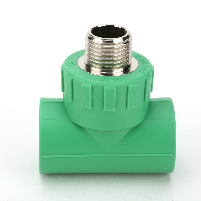 Energy Efficient Male Threaded Tee Ce Approval With Injection Technics